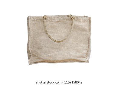 Jute tote bag isolated on white background with clipping path