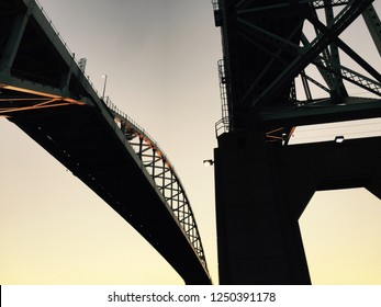 A juxtaposition of both sides of the Bluewater Bridge