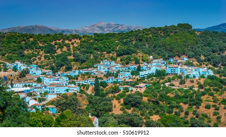 Juzcar the Smurf village, famous village of Andalucia for the filming of the movie: The Smurfs.