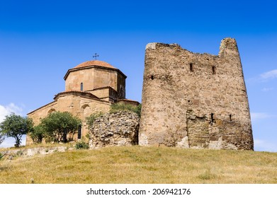 Jvari Monastery, Georgian Orthodox monastery of the 6th century on the mountain hill ove the old town of Mtskheta (UNESCO World Heritage site)