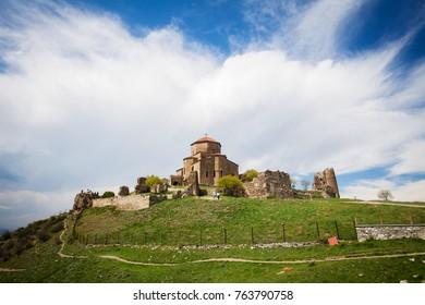 Jvari Monastery. It is a sixth century Georgian Orthodox monastery near Mtskheta, eastern Georgia. it is listed as a World Heritage site by UNESCO