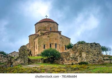 Jvari, mountaintop monastery from 6th century, Mtskheta, Georgia