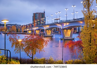 Jyvaskyla in the evening at autumn, Finland