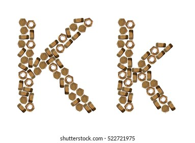 K, k, alphabets, consonants, images, pictures, isolated, nut font