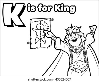 K is for King Coloring Activity