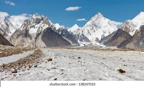 K2 and Baltoro Glacier, Karakorum, Pakistan