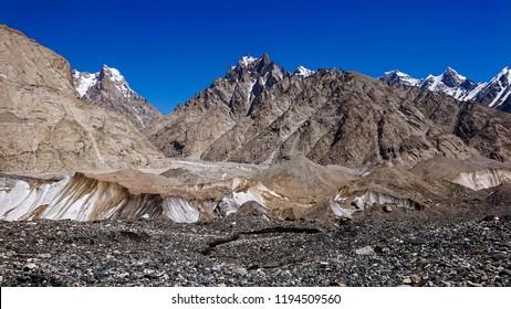 K2 base camp in the Karakorum Mountains Pakistan