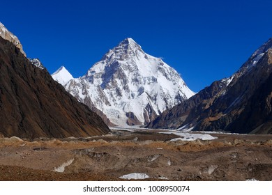 K2 or Chogori (8,611 m), the second highest mountain in the world, Central Karakoram, Gilgit-Baltistan, Northern Pakistan