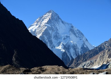 K2 mount along K2 concordia trekking  , K2 is the second highest mountain in the world. It is located on the China–Pakistan border between Baltistan in the Gilgit-Baltistan region of northern Pakistan