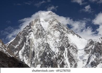 K2 mountain in Concordia of Baltoro glacier, Gilgit-Baltistan, Pakistan.