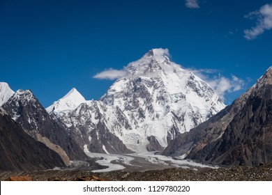 K2 mountain peak, second highest mountain peak in the world, K2 trek, Pakistan, Asia