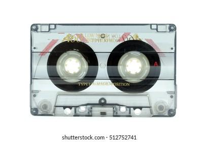 K7 tape isolated on white background