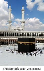 Kaaba in Masjid Al Haram in Mecca Saudi Arabia
