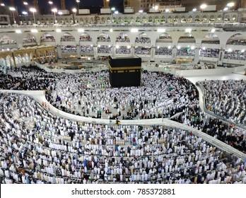 Kaabah during at Night. Masjidil Haram Mecca