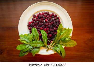 Kaafal a local fruit of the hilly regions of Northern India, Bhutan and Nepal also known as Kaphal, Bayberry, Box Myrtle
