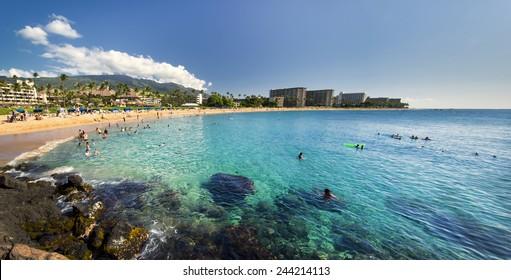 Kaanapali Beach from Black Rock, Maui, Hawaii