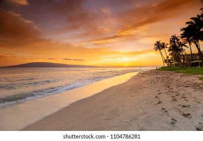 Kaanapali Beach at Sunset
