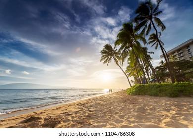 Kaanapali Beach at Sunset