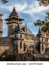 KAATSHEUVEL, The Netherlands. - November 6, 2018: Beautiful Landscape of a dark ride in The Efteling called: Symbolica. Made on a sunny day.