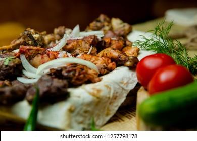 Kabab from Turkey, Azerbaijan food