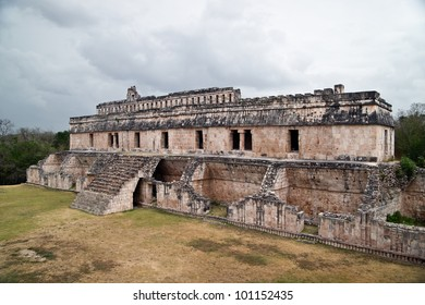 Kabah main palace. Puuc is the name of either a region in the Mexican state of Yucatan or a Maya architectural style prevalent in that region.