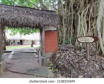 Kabini, Karnataka)India- July 20, 2018: A view of the entrance to the game room at rhe the Evolve Back Resort at Kabini