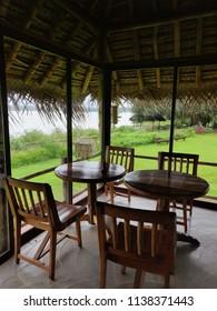 Kabini, Karnataka/India- July 20, 2018: View from the dining room at the Evolve Back Kabini Resort