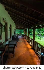 Kabini Wildlife Sanctuary,Karnataka, India - Aug 17:  Interior view of the Kabini River lodge  on Aug 07 -2018 in Kabini Wildlife Sanctuary, Karnataka, India