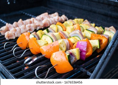 Kabobs roasting on the BBQ