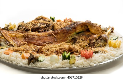 Kabsa with cooked meats - Mandi - Kabsah - Mandi Kabsah Rice with Meats and Vegetables