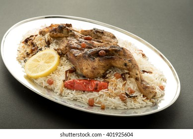 Kabsa with grilled chicken - Mandi - Kabsah - Mandi Rice with Chicken