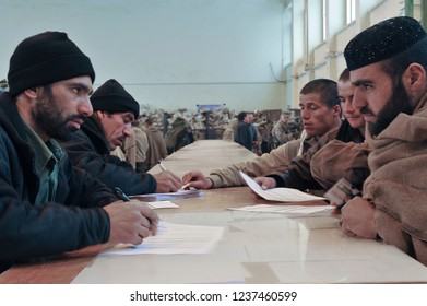 Kabul, Kabul/ Afghanistan - circa 2008: The Kabul Military Training Centre is a basic training centre for the Afghan Armed Forces. Located about 8 miles to the east on the outskirts of Kabul
