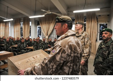 Kabul, Kabul/ Afghanistan - circa 2008: The Kabul Military Training Centre is a basic training centre for the Afghan Armed Forces. Located about 8 miles to the east on the outskirts of Kabul,