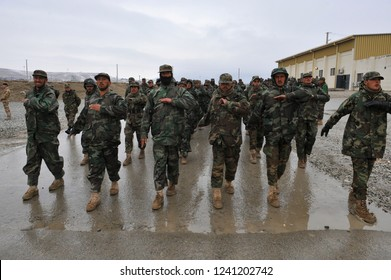 Kabul, Kabul/ Afghanistan - circa 2008: The Kabul Military Training Centre is a basic training centre for the Afghan Armed Forces.