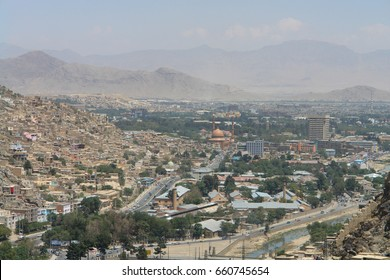Kabul, Afghanistan. Panorama of the city.