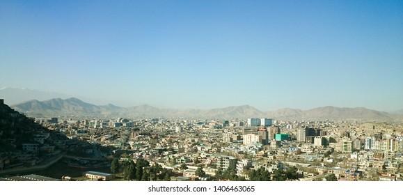 Kabul city buildings, Afghanistan capital