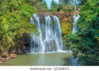 Kachanh waterfall travel destination in Banlung, Ratanakiri, Cambodia