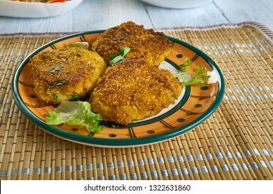 Kachche Kele Ki Tikki, Raw Banana Tikki, raw banana cutlets, Awadhi dish,
