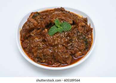 Kadai Chicken /Karahi curry/tikka masala/ kolhapuri, hot and spicy gravy  dish Pakistan, North India. Non-vegetarian food prepare using Indian  spices/masala. Sidedish chapati roti naan paratha phulka