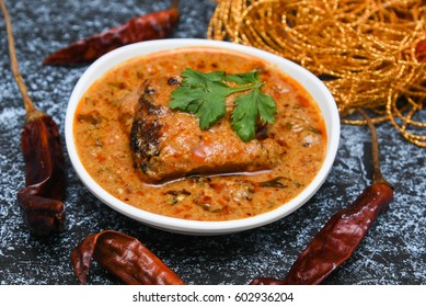 Kadai Chicken /Karahi curry/tikka masala/Korma, hot and spicy gravy dish   Pakistan, North India. Non-vegetarian food prepared using Indian spices/masala. Sidedish chapati/roti/naan/paratha/parantha