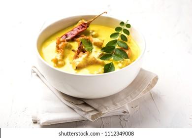 Kadhi Pakoda or pakora, Indian cuisine, selective focus