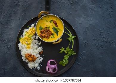 Kadhi pakora (fritters). Popular Indian main dish mostly served with rice.