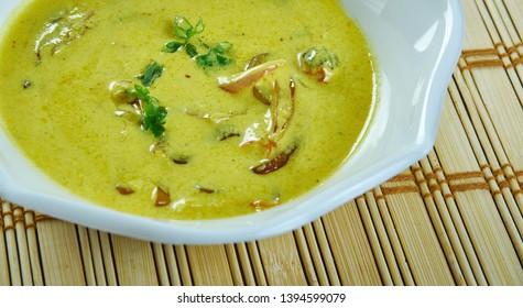 Kadhi - Punjabi  Curried Yogurt Stew
