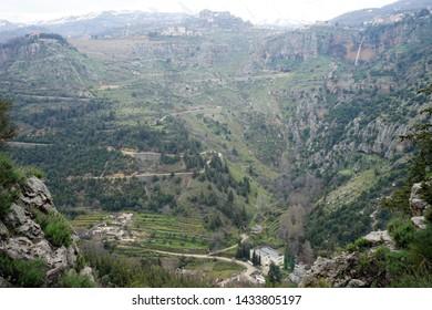 Kadisha valley under Bsharri, Lebanon