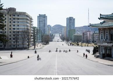 Kaesong city center north korea