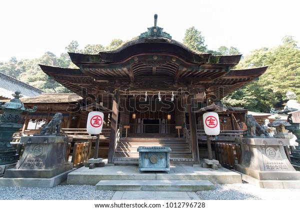 Kagawa, Japan, 18/10/2015 - Kotohira-gu is a Shinto shrine in the town of Kotohira in Nakatado District, Kagawa, Japan. This shrine is patron of sea ship transport and sailor.