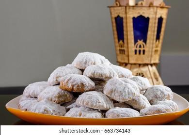 """Kahk feast """"Kahk El Eid"""" - Translation : Cookies of El Fitr Islamic Feast"""