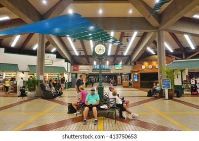 KAHULUI, HI -3 APRIL 2016- Inside the terminal at the Kahului Airport (OGG) on the island of Maui in Hawaii near the Haleakala volcano.