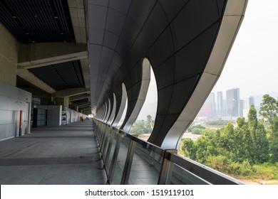 Kai Tak Cruise Terminal. It is at the former Kai Tak Airport runway at Hong Kong.