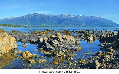 Kaikoura Coast, Mountains and Rock Pools, New Zealand